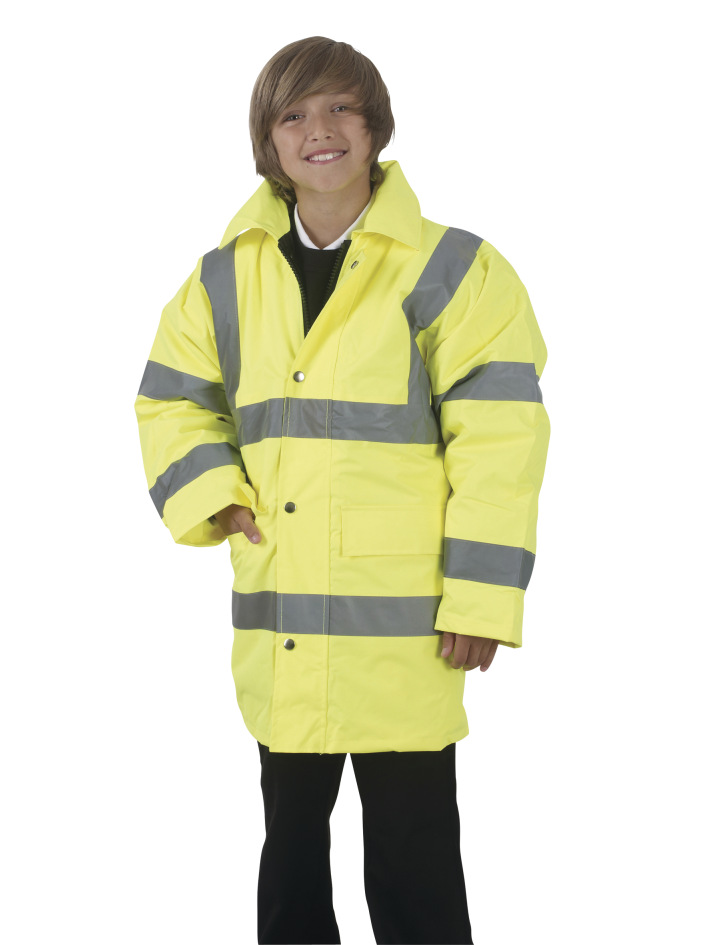 Yoko Childrens Hi-Vis Parka 12 years Hi-Vis Yellow