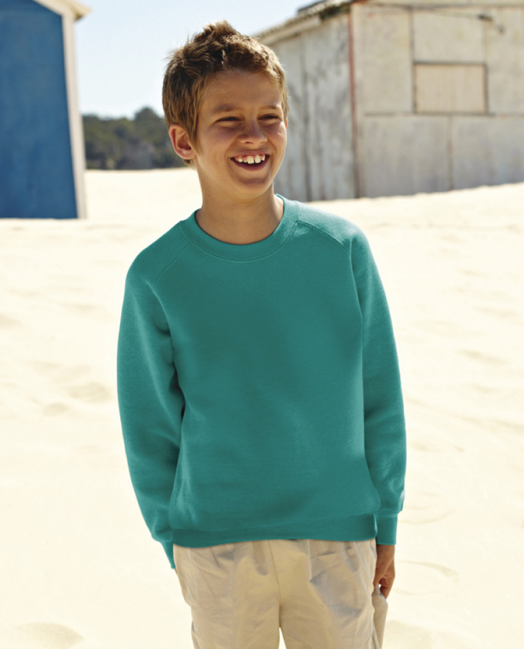 Fruit of the Loom Childrens Raglan Sleeve Sweatshirt 13 years Navy